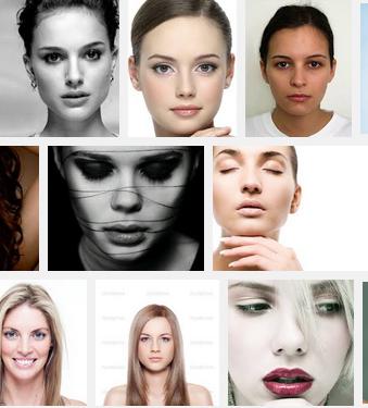 human face female