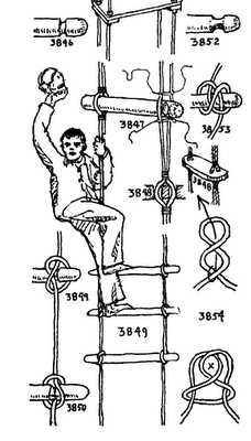 rope-ladder knots ship